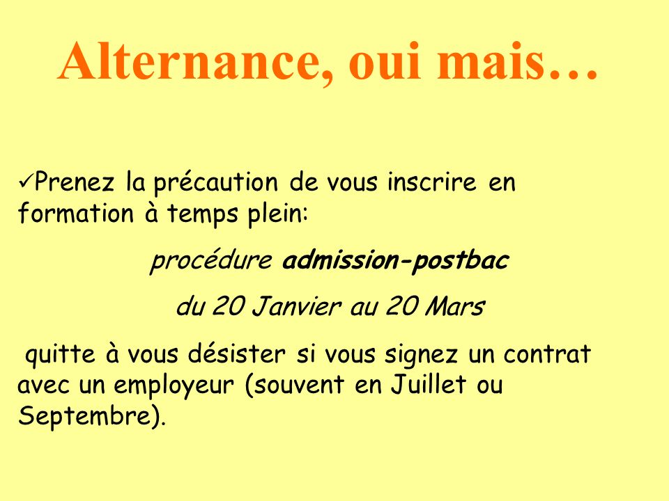 procédure admission-postbac