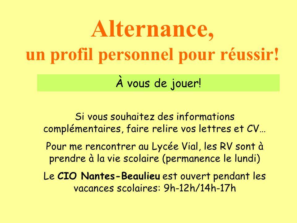 Alternance, un profil personnel pour réussir!