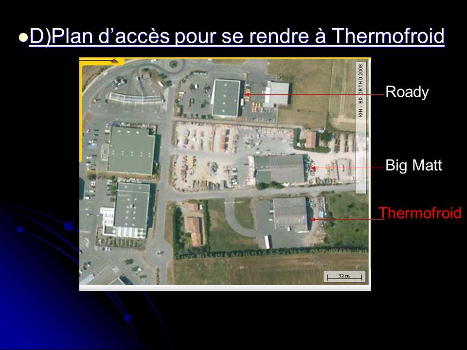 D)Plan d'accès pour se rendre à Thermofroid