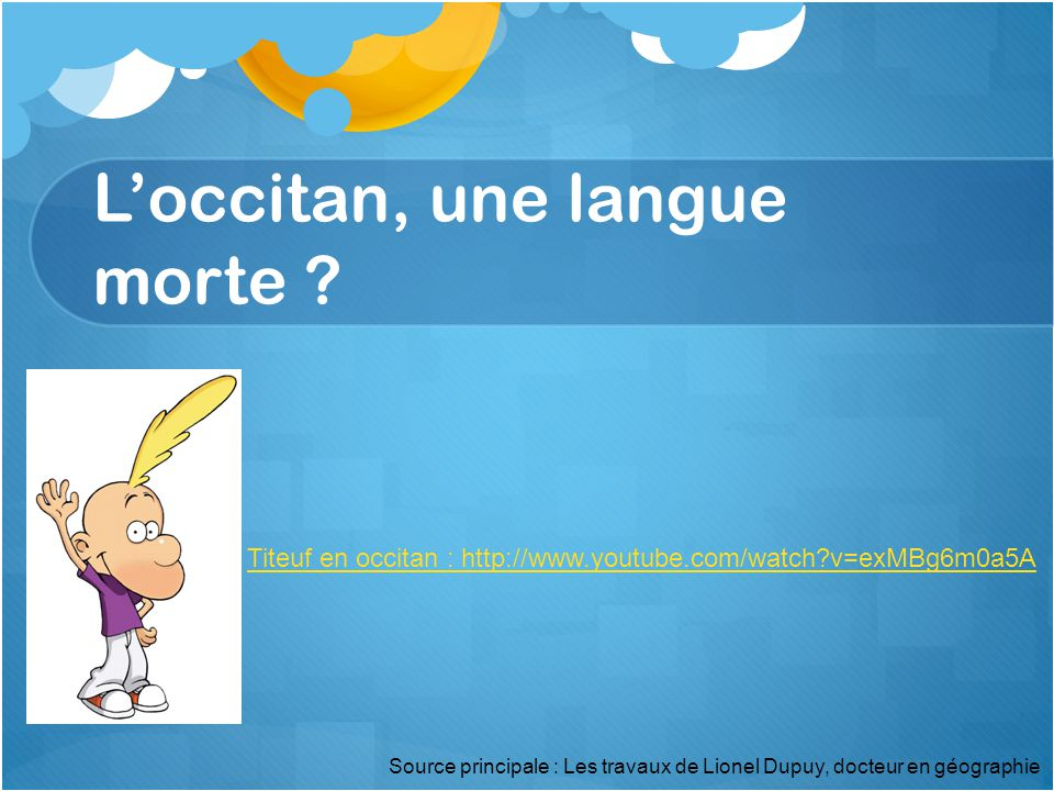 L'occitan, une langue morte