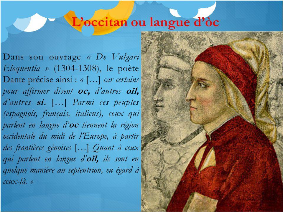 L'occitan ou langue d'òc