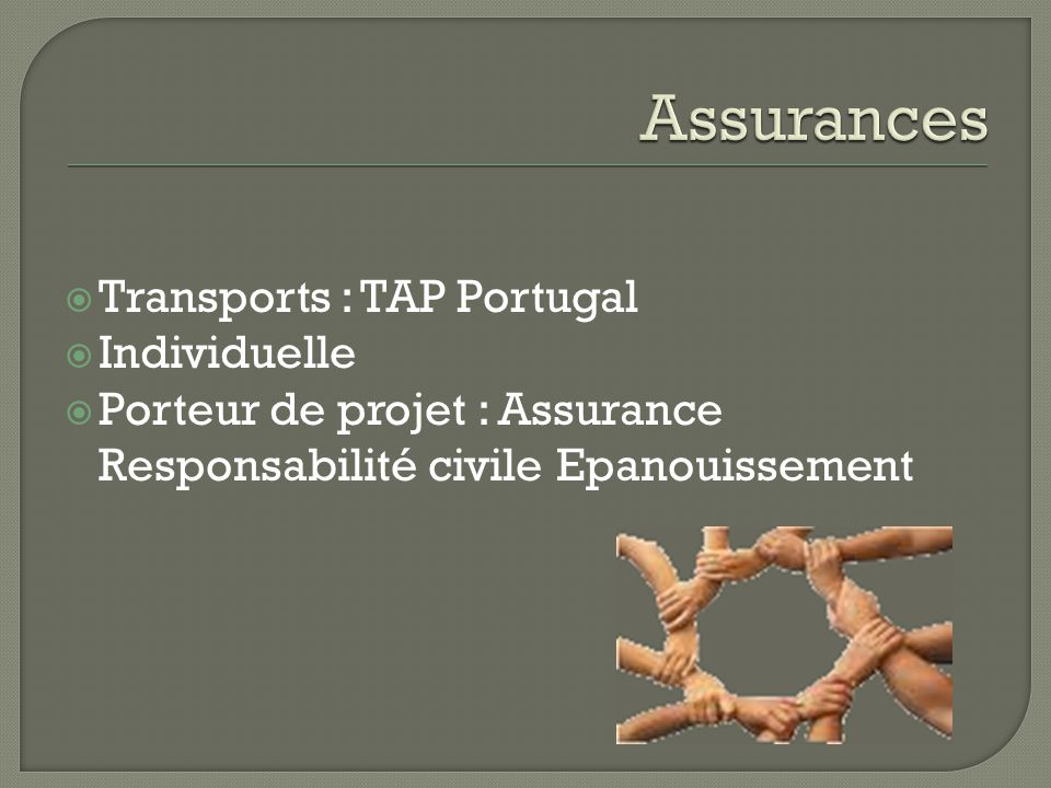 Assurances Transports : TAP Portugal Individuelle