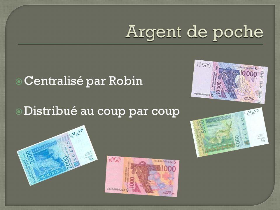 Argent de poche Centralisé par Robin Distribué au coup par coup