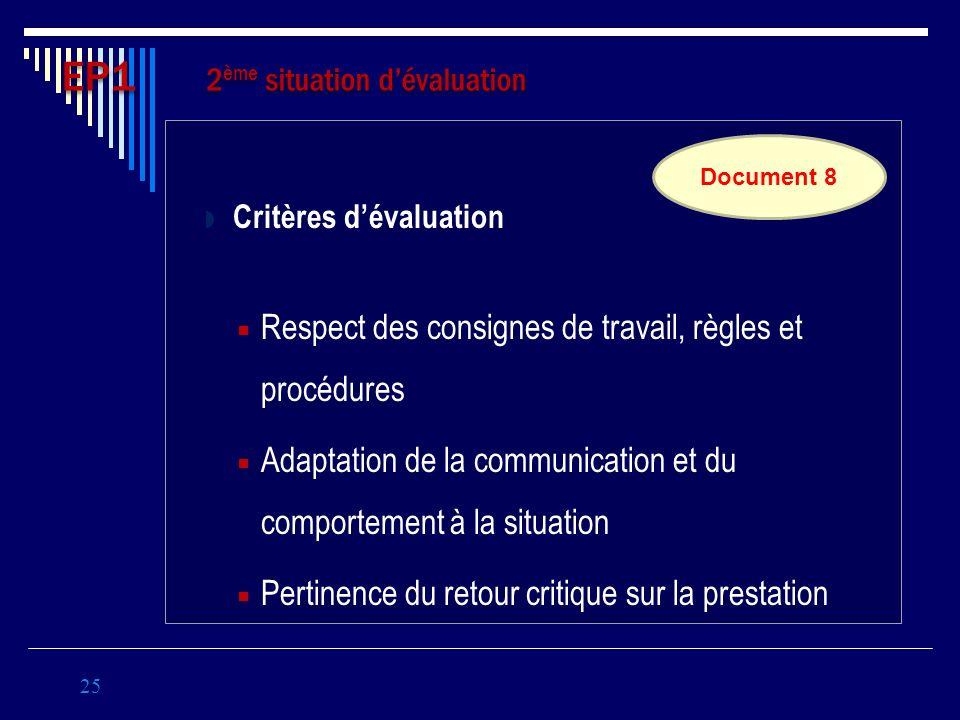 EP1 2ème situation d'évaluation