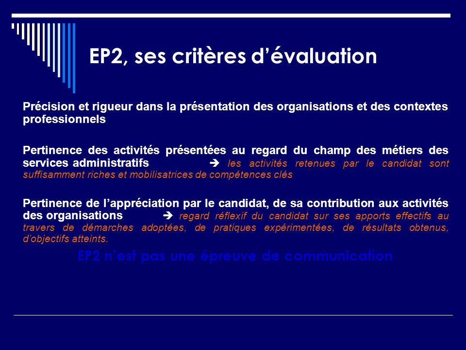EP2, ses critères d'évaluation