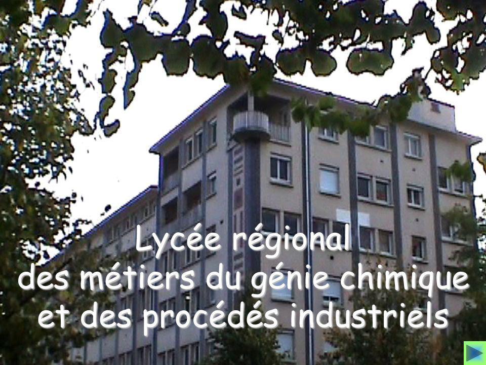 des métiers du génie chimique et des procédés industriels