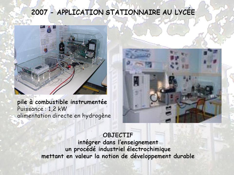 2007 - APPLICATION STATIONNAIRE AU LYCÉE