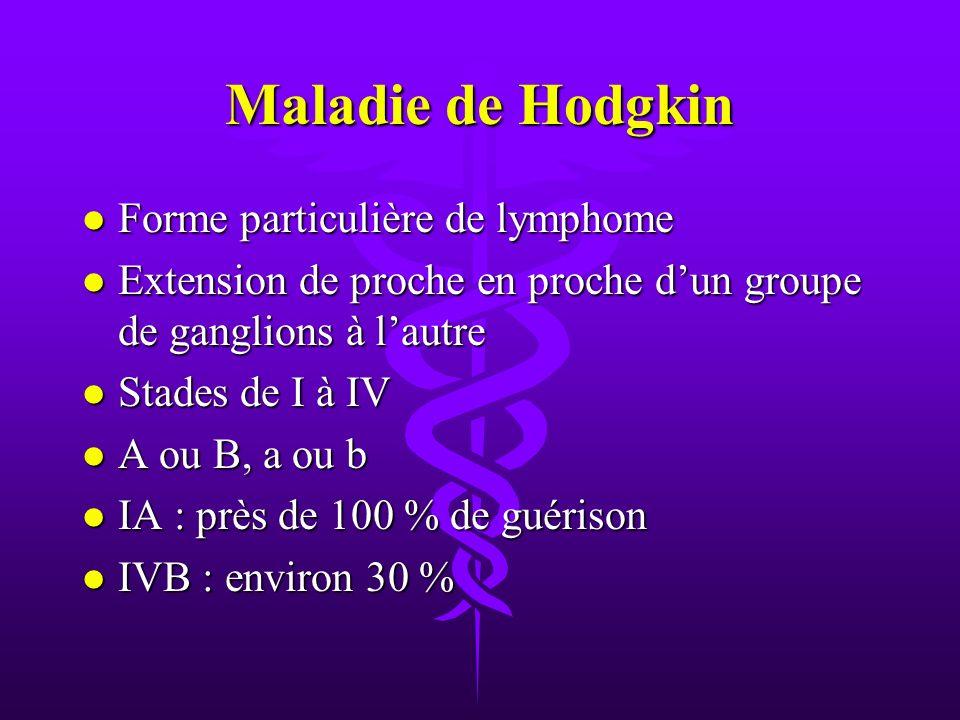 Maladie de Hodgkin Forme particulière de lymphome