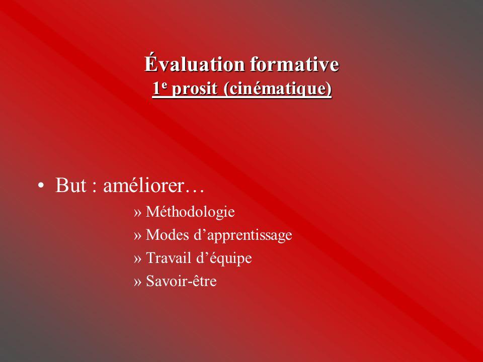 Évaluation formative 1e prosit (cinématique)