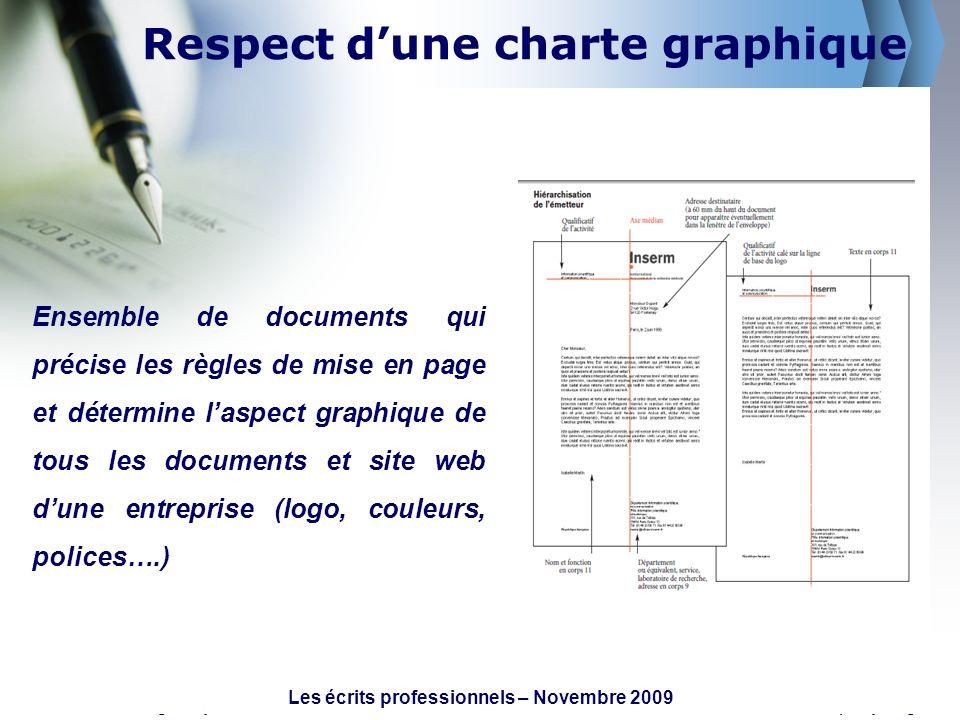 Respect d'une charte graphique