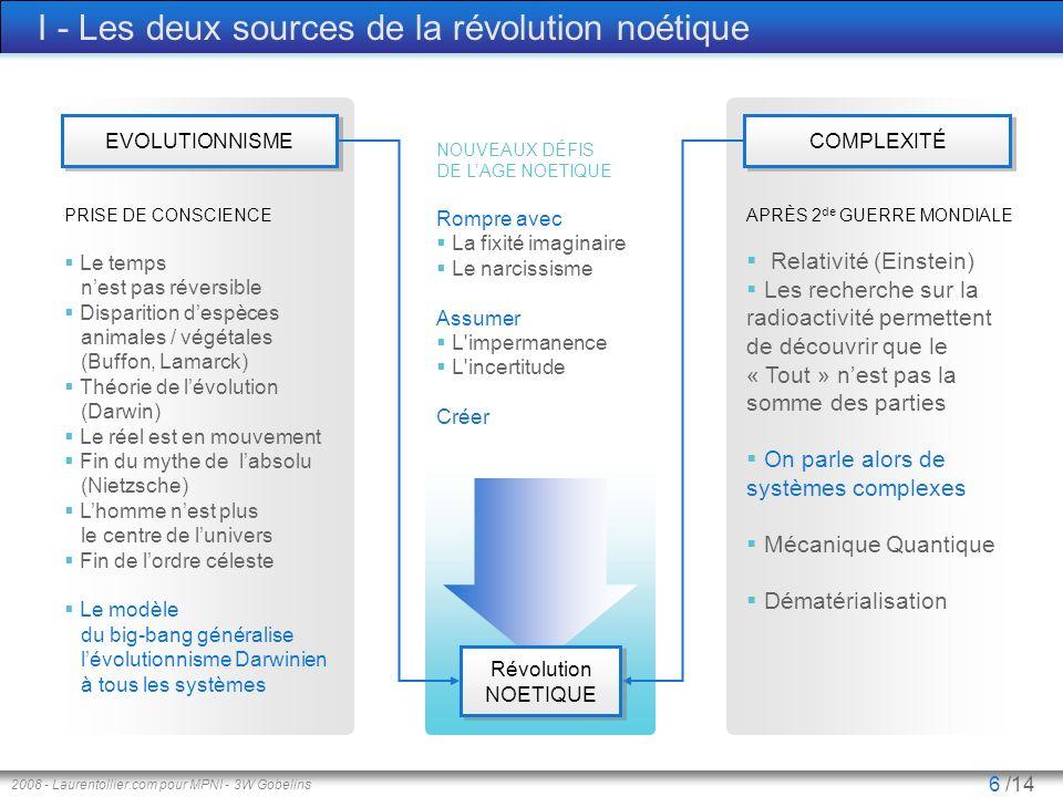 I - Les deux sources de la révolution noétique