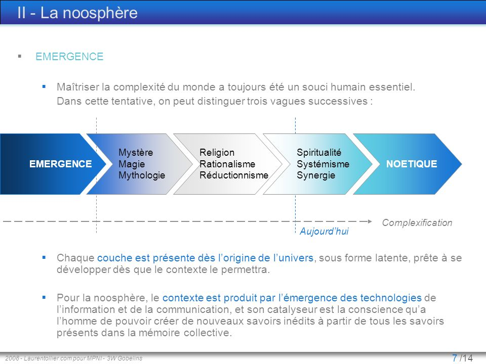 II - La noosphère EMERGENCE