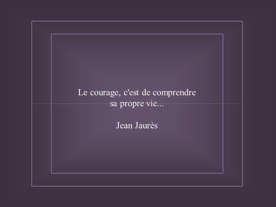 Le courage, c est de comprendre