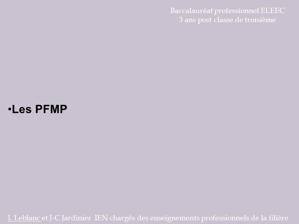 Les PFMP Baccalauréat professionnel ELEEC
