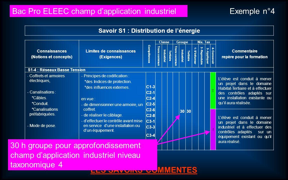 Bac Pro ELEEC champ d'application industriel Exemple n°4
