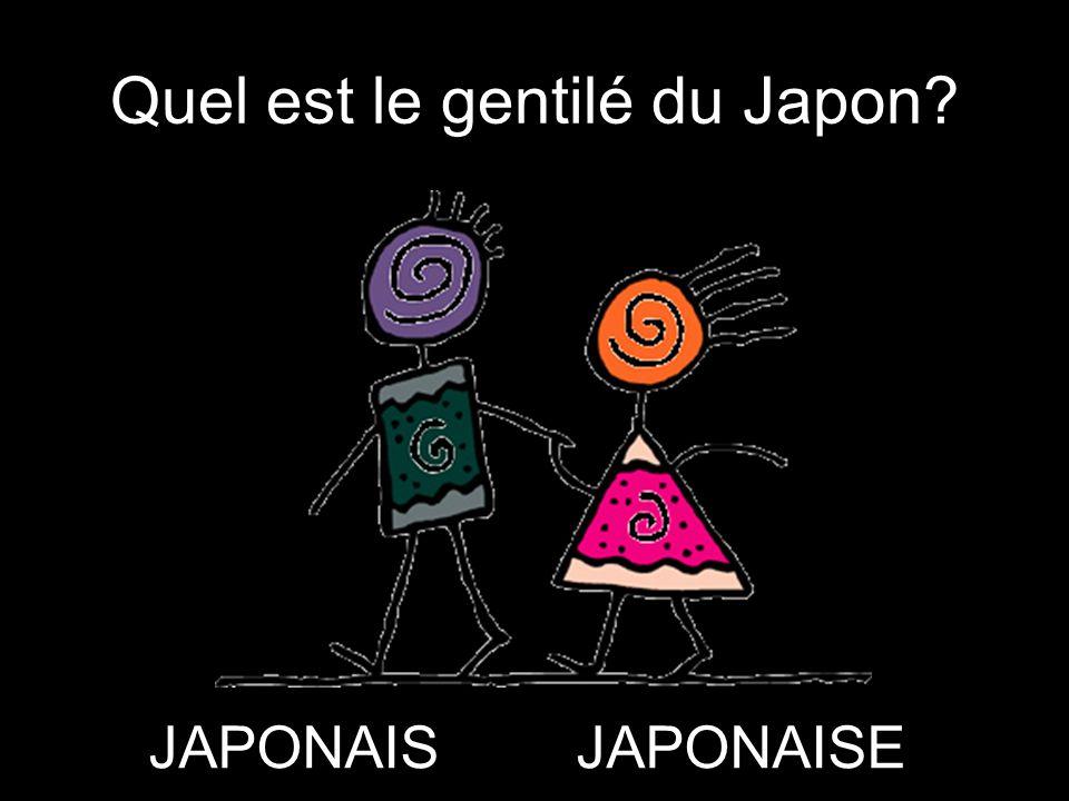 Quel est le gentilé du Japon