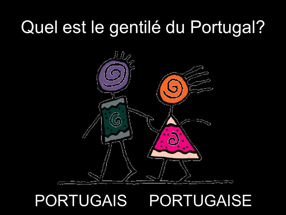 Quel est le gentilé du Portugal