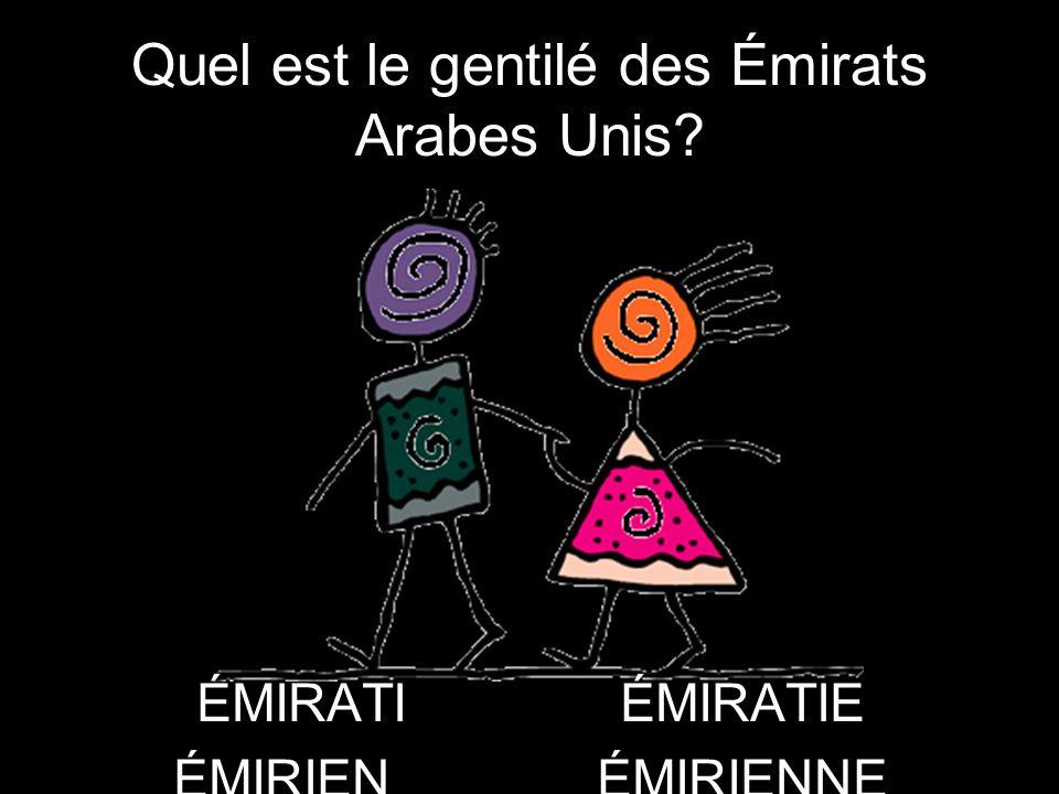 Quel est le gentilé des Émirats Arabes Unis