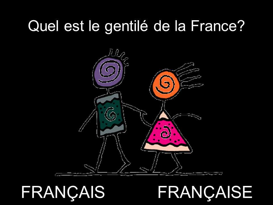 Quel est le gentilé de la France