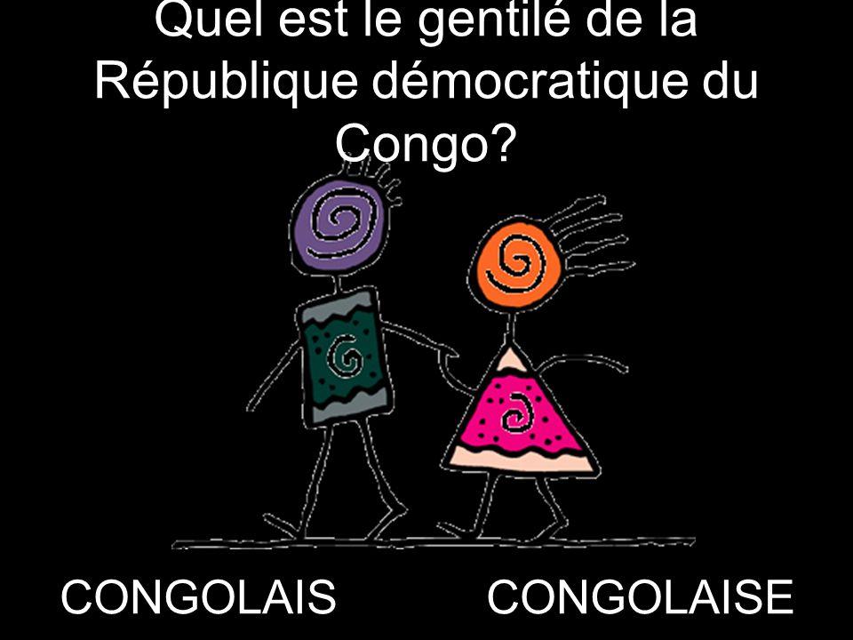 Quel est le gentilé de la République démocratique du Congo