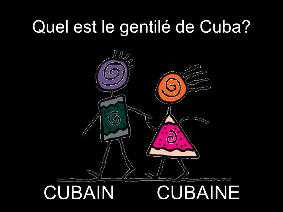 Quel est le gentilé de Cuba
