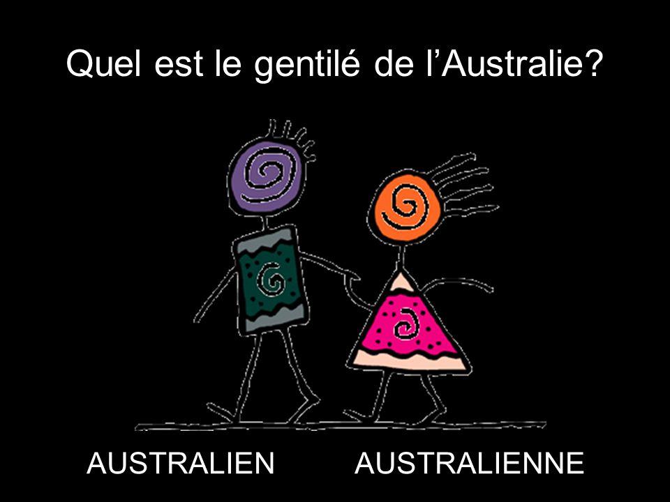 Quel est le gentilé de l'Australie