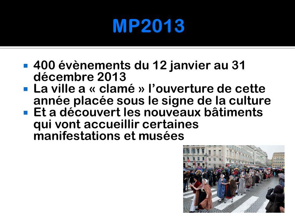 MP2013 400 évènements du 12 janvier au 31 décembre 2013