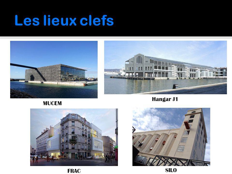 Les lieux clefs MUCEM Hangar J1 FRAC SILO