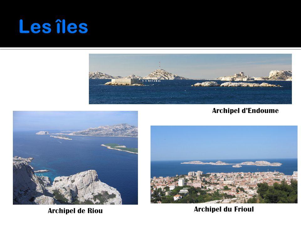 Les îles Archipel d'Endoume Archipel de Riou Archipel du Frioul