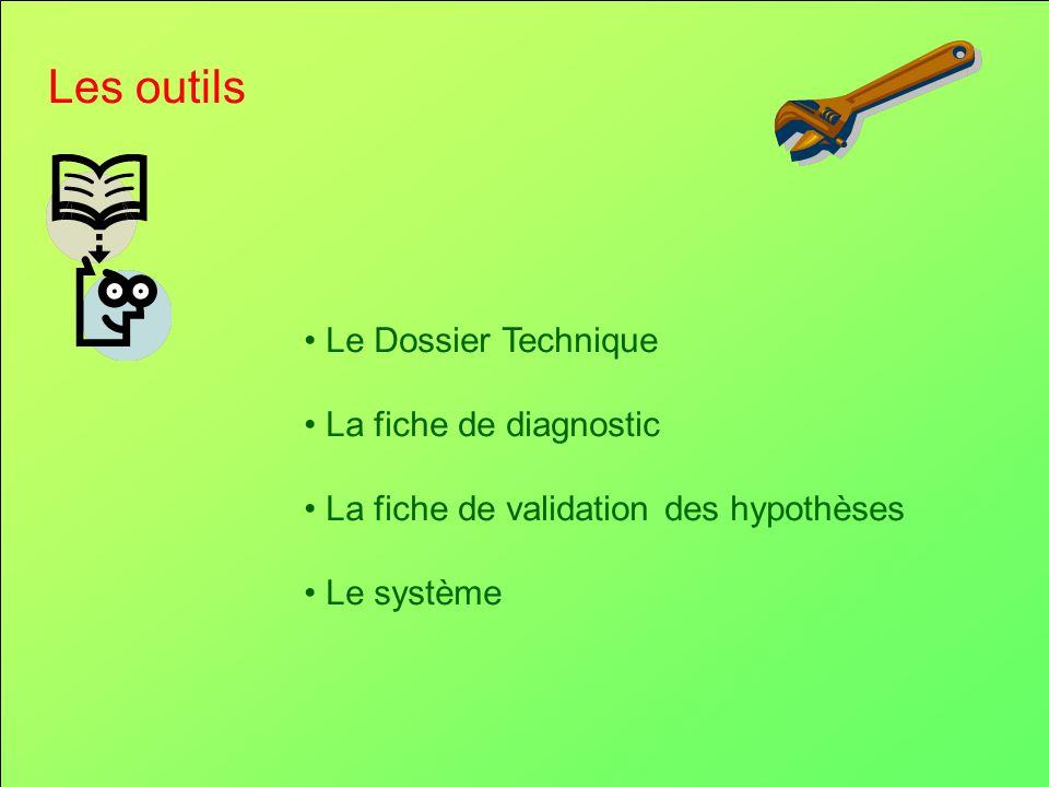 Les outils Le Dossier Technique La fiche de diagnostic