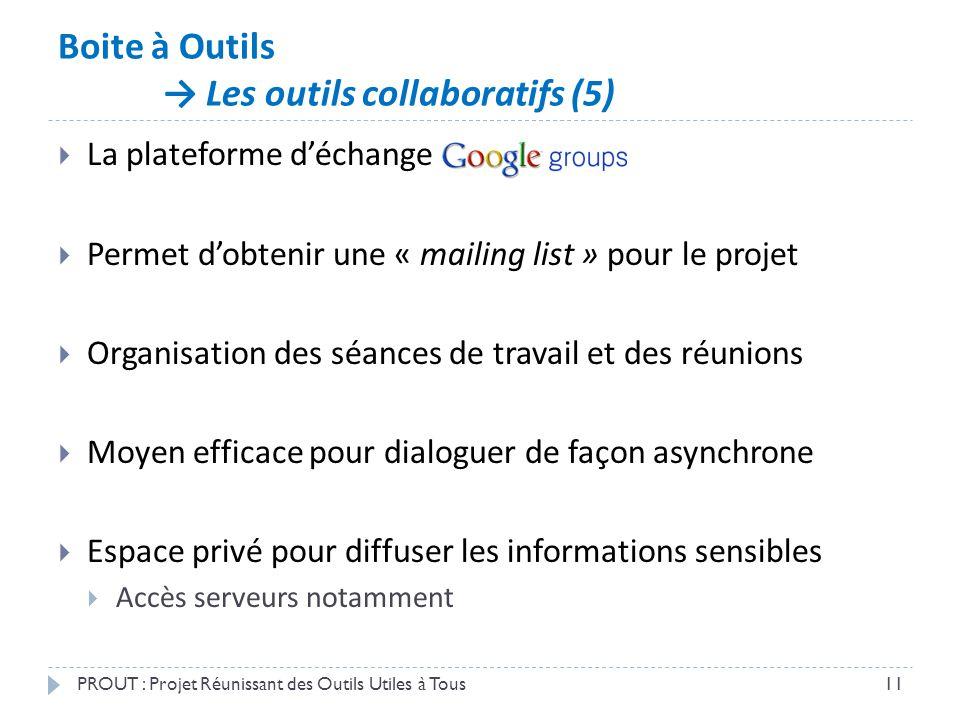 Boite à Outils → Les outils collaboratifs (5)