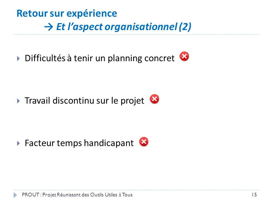 Retour sur expérience → Et l'aspect organisationnel (2)