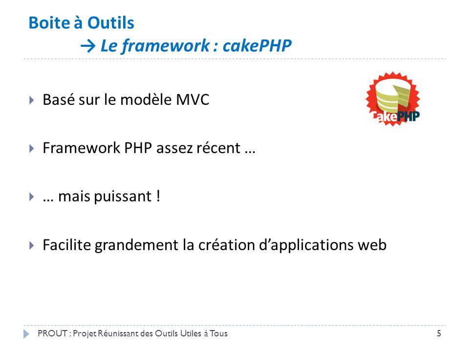 Boite à Outils → Le framework : cakePHP