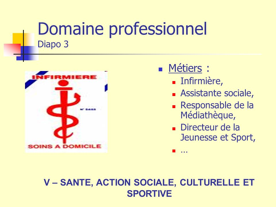 Domaine professionnel Diapo 3