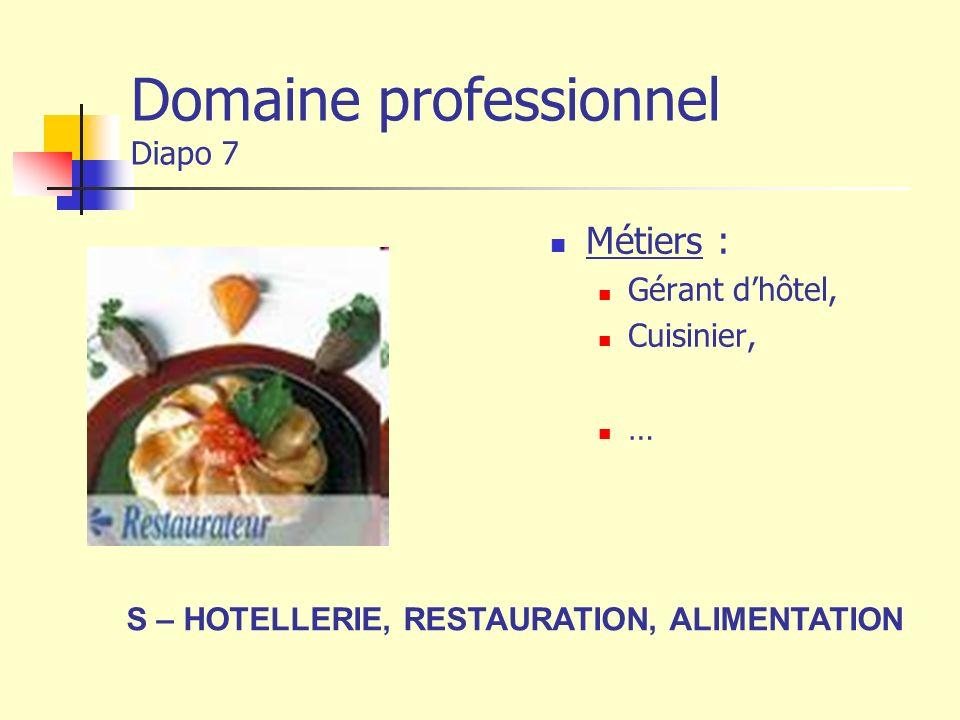 Domaine professionnel Diapo 7