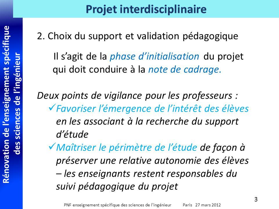 2. Choix du support et validation pédagogique