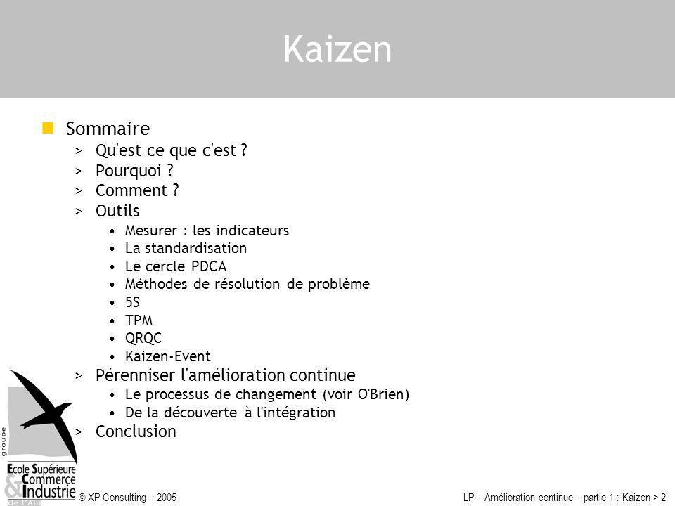 Kaizen Sommaire Qu est ce que c est Pourquoi Comment Outils
