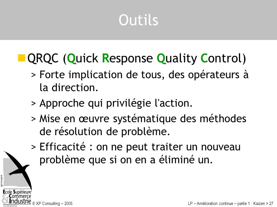 Outils QRQC (Quick Response Quality Control)