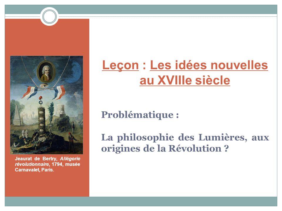 Leçon : Les idées nouvelles au XVIIIe siècle