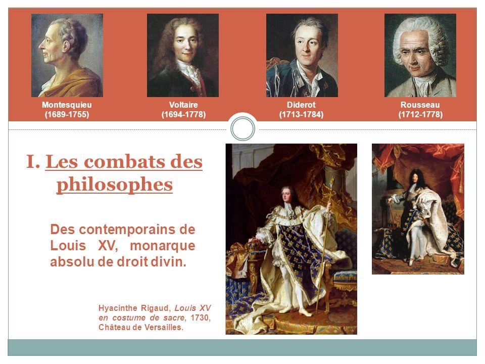 I. Les combats des philosophes