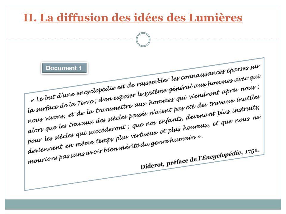 II. La diffusion des idées des Lumières