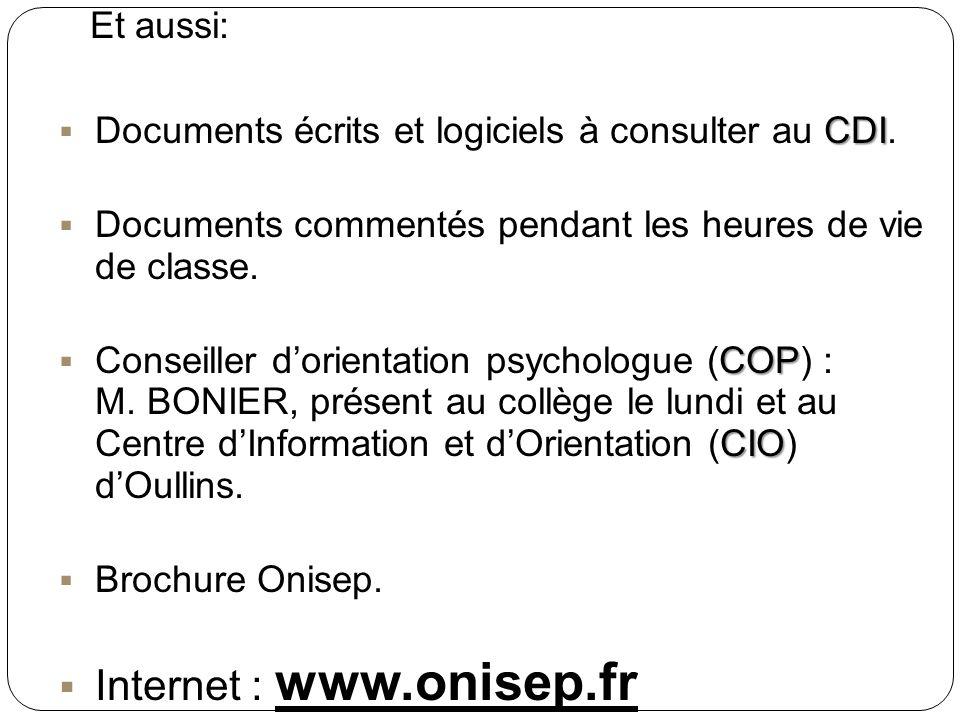 Internet : www.onisep.fr