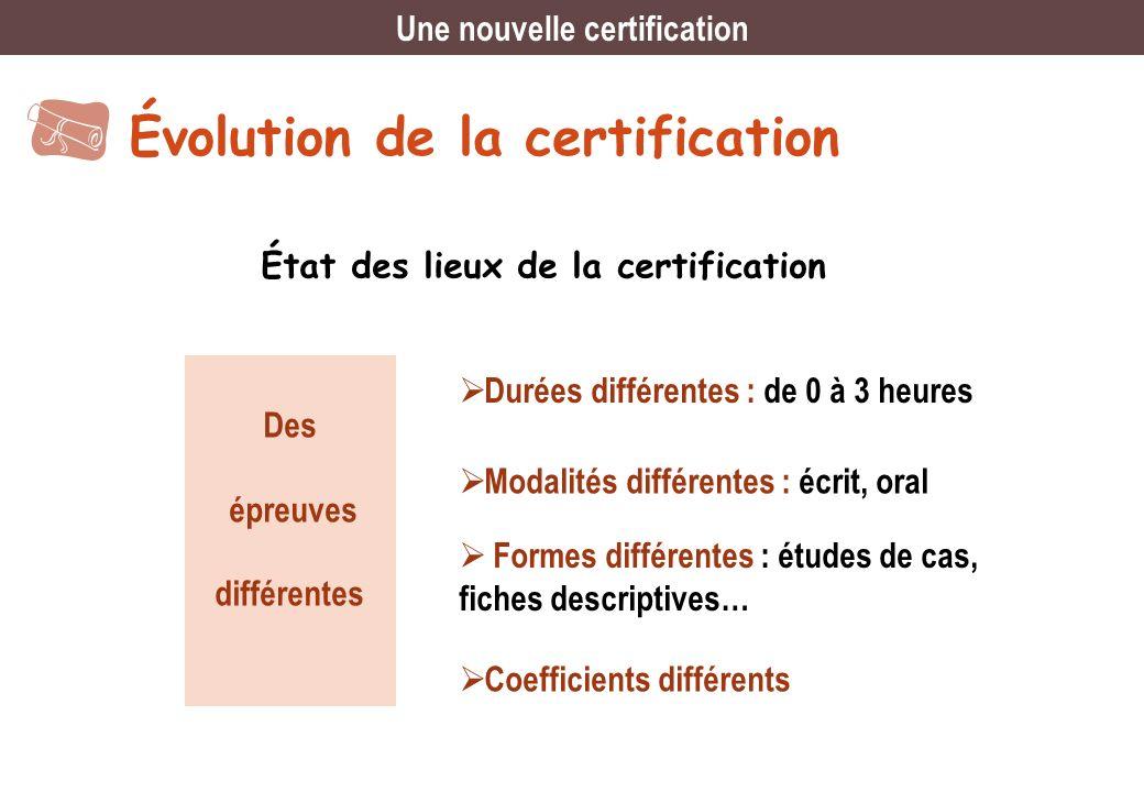 Une nouvelle certification