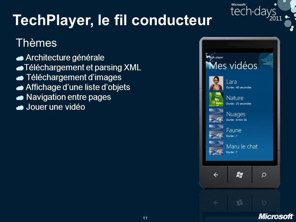 TechPlayer, le fil conducteur