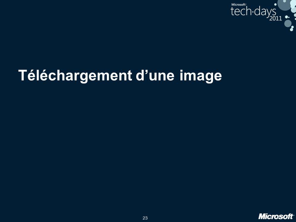 Téléchargement d'une image