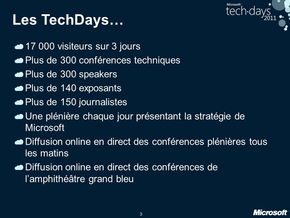 Les TechDays… 17 000 visiteurs sur 3 jours