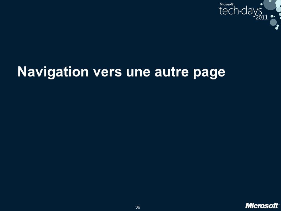 Navigation vers une autre page