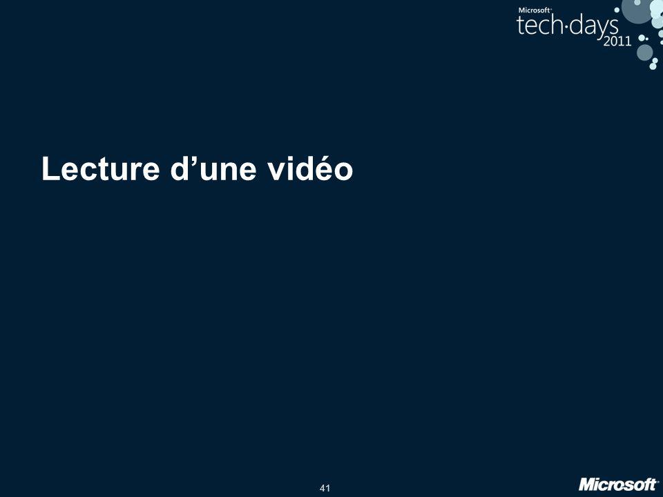 Lecture d'une vidéo