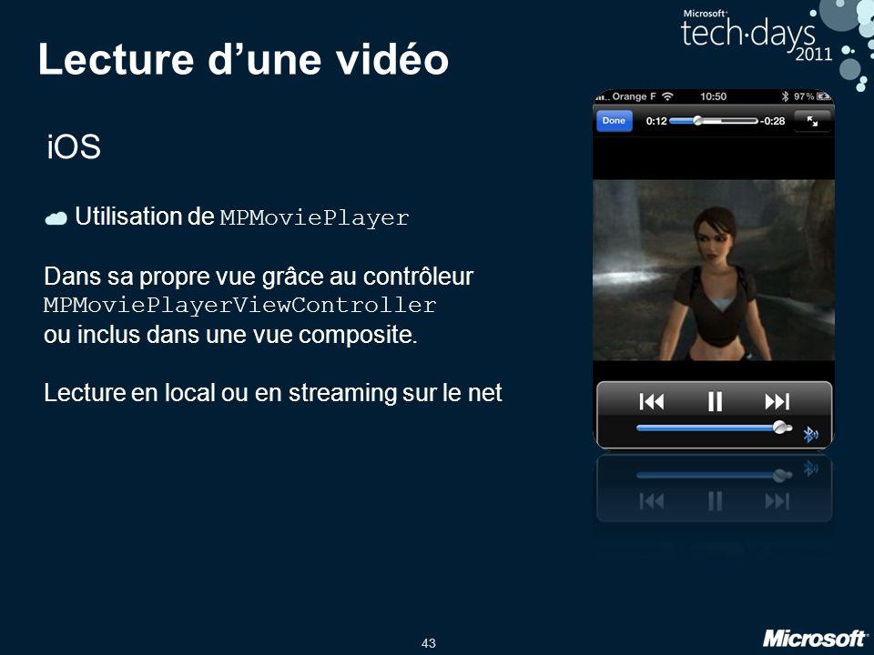 Lecture d'une vidéo iOS Utilisation de MPMoviePlayer