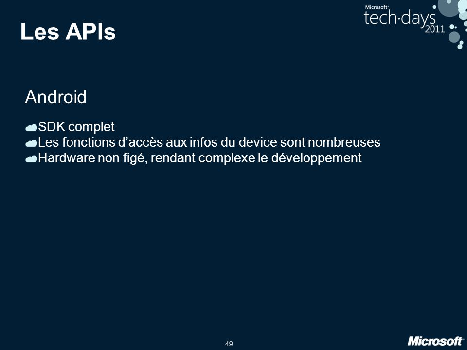 Les APIs Android SDK complet